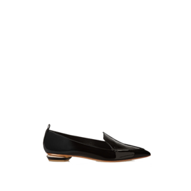 <p>Patent leather pointy-toe flats</p>