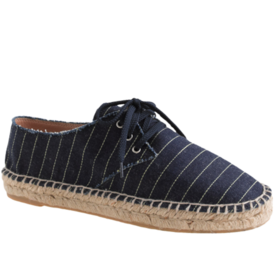 J. Crew Printed Lace-Up Espidrilles