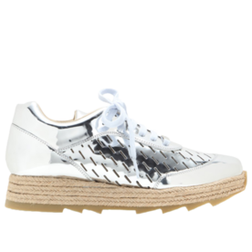 STELLA MCCARTNEY Macy metallic espadrille sneakers
