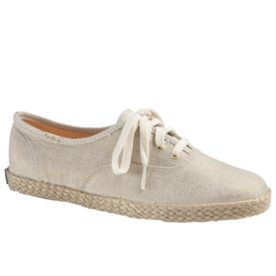 Keds Champion Metallic Linen Jute