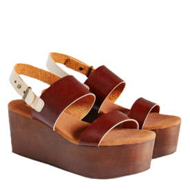 Urban Outfitters Cooperative Piper Wood-Bottom Platform Sandal