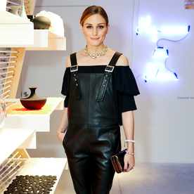 Leather in the Summer? Olivia Palermo Is Onboard