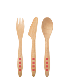 <p>Susty Party Wood Cutlery Set</p>