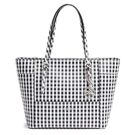 GUESS Delaney Gingham Small Classic Tote