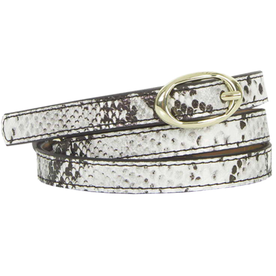 Topshop Snake-Effect Double Loop Belt