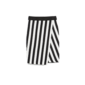 Zara Striped Sarong Skirt