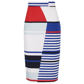 <p>Marina Stretch-Cotton Pencil Skirt</p>
