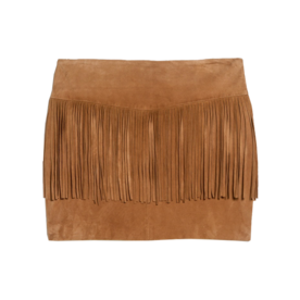 Fringed+Suede+Skirt