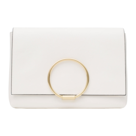 <p>Clutch with Metal Detail</p>