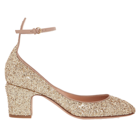 <p>Glitter-finish pumps</p>
