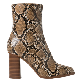 <p>Snake-finish boots</p>