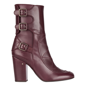 <p>Merli buckled leather boots</p>