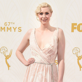 Giles Deacon Previews His Spring Collection on Game of Thrones star Gwendoline Christie at the 2015 Emmys