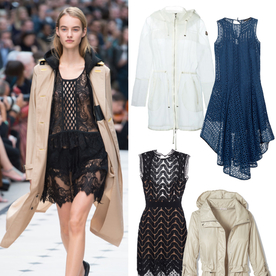 Shop the #LFW Snapshot: Burberry's Lace and Anorak Pairing