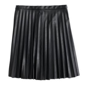 J. Crew Faux-leather skirt