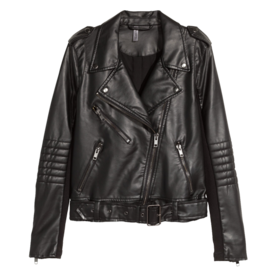 How much does a leather jacket from hm cost?