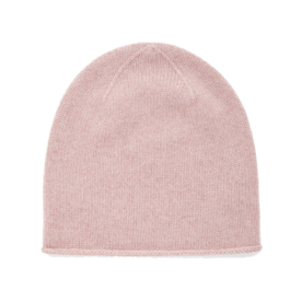 Dusty pink cashmere beanie