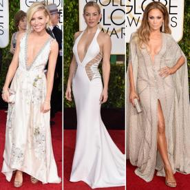 Golden Globes Red Carpet Trend Alert: Seriously Sexy Plunging Necklines