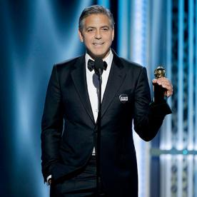 Swoon! George Clooney Lovingly Praises Wife Amal During Golden Globes Acceptance Speech