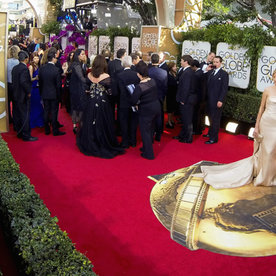What It's Really Like to Be on the Golden Globes Red Carpet