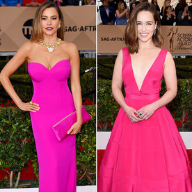 The 3 Stars Who Rocked Shocking Hot Pink at the 2016 SAG Awards
