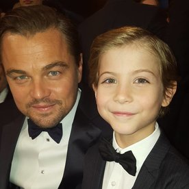 Adorable! Jacob Tremblay Meets Leonardo DiCaprio at the SAG Awards and Their Photo Is Too Cute