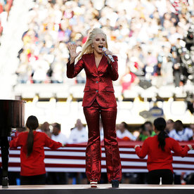 Lady Gaga Slayed the National Anthem to Open Super Bowl 50