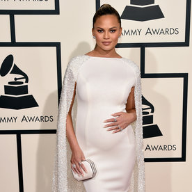 Chrissy Teigen and Her Baby Bump Bust a Move During the Grammys