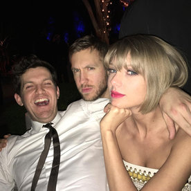 Taylor Swift and Calvin Harris Cozy Up at Grammys After-Party