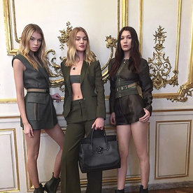 Bella Hadid and Rosie Huntington-Whiteley Get Steamy in New Versace Video