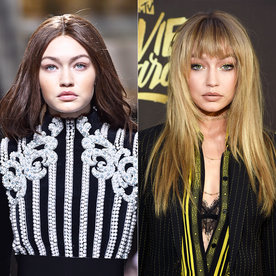Gigi Hadid Rocks (Faux?) Bangs at the 2016 MTV Movie Awards