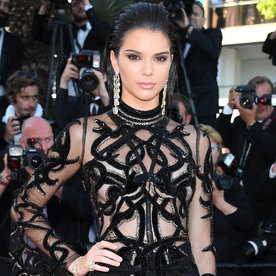 Kendall Jenner's Sheer, Snake-Covered Dress Wows the Cannes Red Carpet
