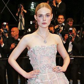 Elle Fanning Stuns in a Fairy-Tale Dress at Cannes