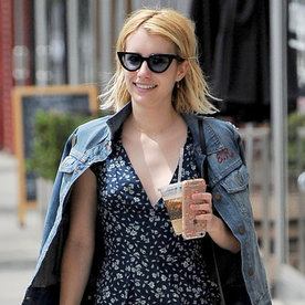We're Obsessed with Emma Roberts's Sundress and Sneakers Combo