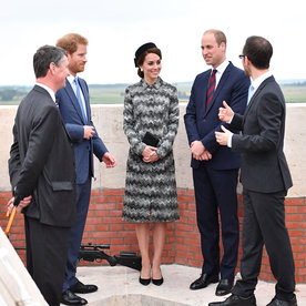 Kate Middleton Wears Missoni Coat at Somme Commemorations with Prince William and Prince Harry