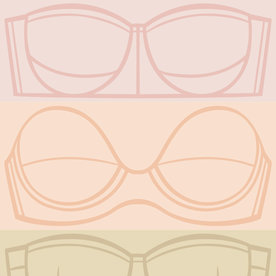 How to Shop for a Strapless Bra That Won't Fall