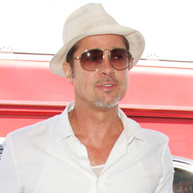 Brad Pitt Shows Off His Cool Dad Style While Catching Flight in L.A.
