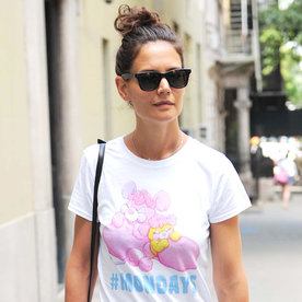 Katie Holmes's T-Shirt Perfectly Expresses Our Feelings About #Mondays