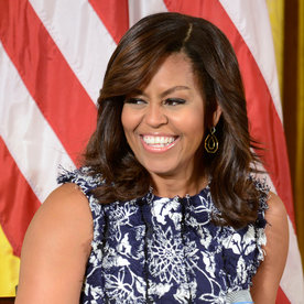 Michelle Obama's Floral Fringe Dress Is Anything But Basic