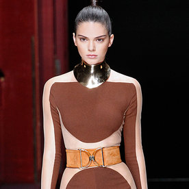 Kendall Jenner and Jennifer Lopez Wow in the Same Sexy Balmain Jumpsuit