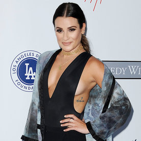 Lea Michele Takes the Plunge in a Revealing Romper to See Fleetwood Mac