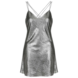 Metallic+Slip+Dress