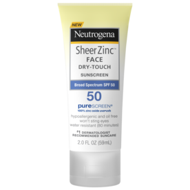 Best Face SPF: Neutrogena Sheer Zinc Face