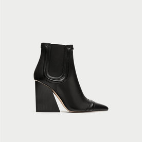 Zara Leather High Heeled Boots
