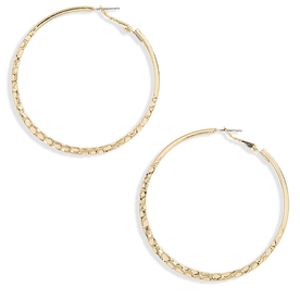 Large+Textured+Hoop+Earrings