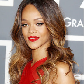 Rihanna Hairstyles short hairstyle with long bangs Rihanna Hairstyles
