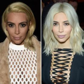 Kim Kardashian Goes Even Blonder with an Ice-White Dye Job