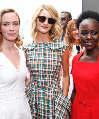 Lupita Nyong'o and Emily Blunt Sit Front Row at Christian Dior's Kaleidoscopic Haute Couture Show