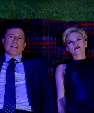 Scarlett Johansson and Stephen Colbert Ask Each Other Big Life Questions on The Late Show