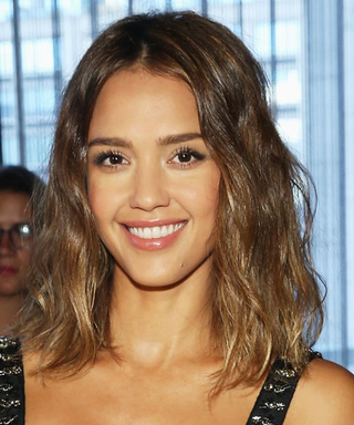 Jessica Alba Explains Why She Looked So Incredibly Perky This Morning at New York Fashion Week